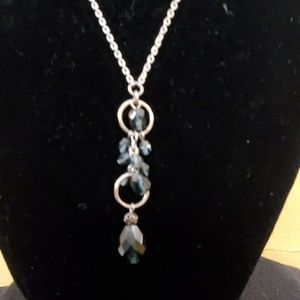 LOFT Jewelry - LOFT Silver Chain Blue Bead Pendant Necklace #605